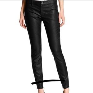 Banana Republic Sloan Fit Black Leather Pants 6